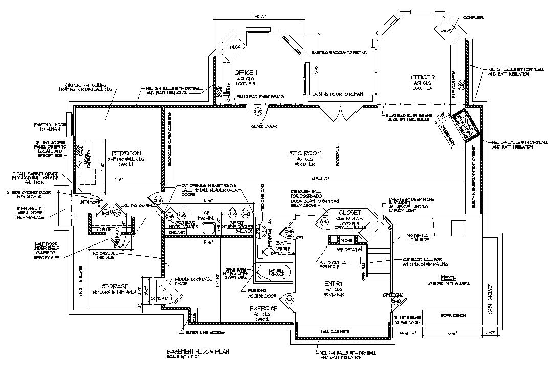 Basement blueprint reno ideas room renovation floor plans for Basement home plans designs