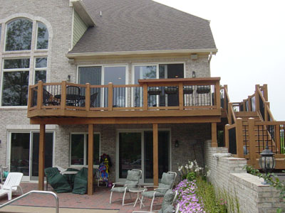 Basement entrance ideas second story deck designs simple for How to build a 2nd story floor