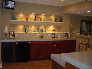 Unfinished basement ideas finished basement bedroom for How much does it cost to build a wet bar