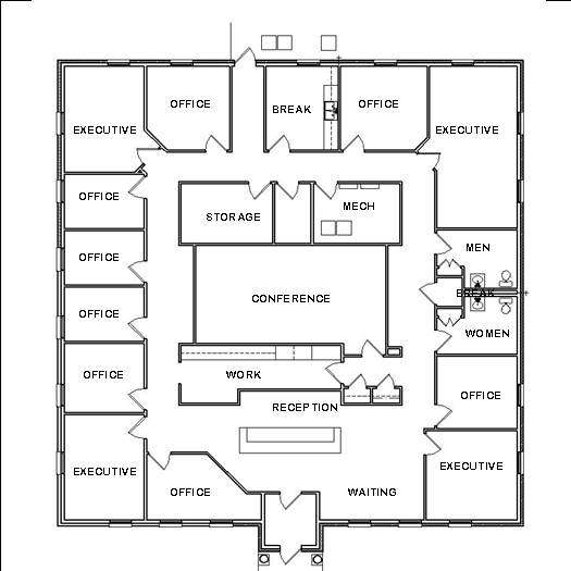 Office design plans house space planning ideas blueprint drawings - Home office layout design ...