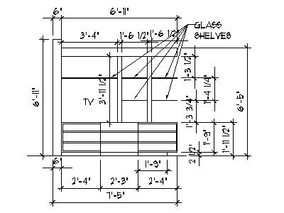 bookcase and tv stand plans