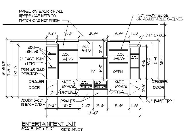 drawing plans tv stand