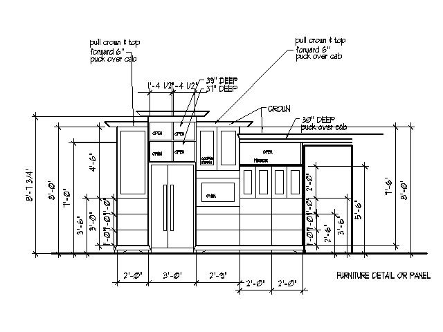 Cabinet Design-Bar Plans-TV-Bedroom & Kitchen Cabinet Design Drawing