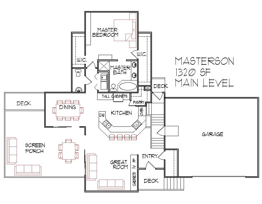Split level house floor plans designs bi level 1300 sq ft for Split entry floor plans
