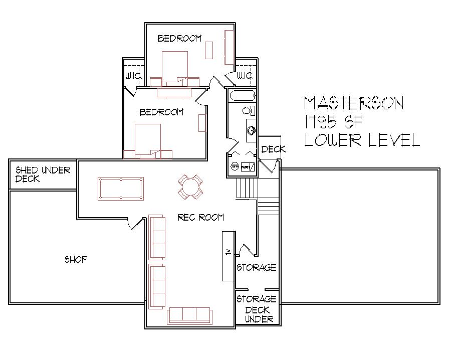 1300 square foot split level floor plan 3 bedroom 3 bath atlanta augusta macon georgia columbus - Split Plan House Plans