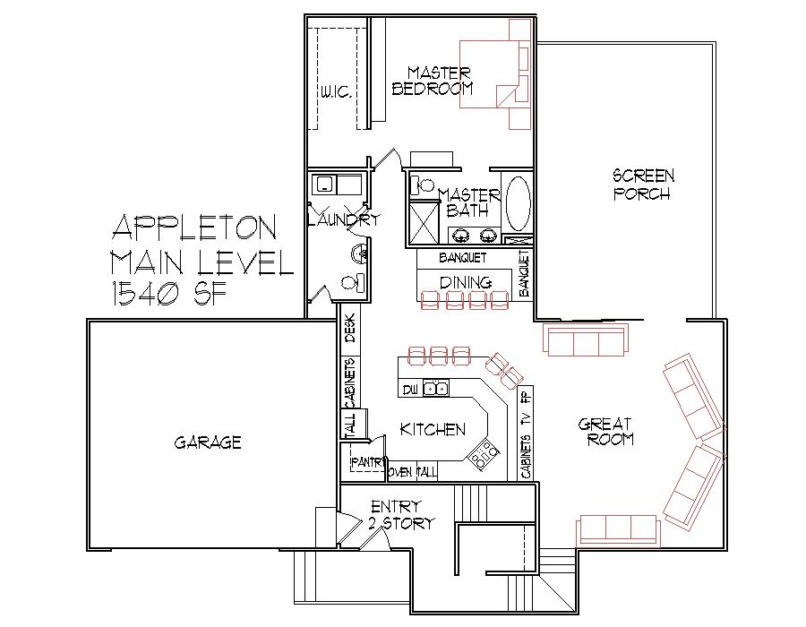 1500 Sq Ft House Floor Plans Modern Split Level 3 Bedroom