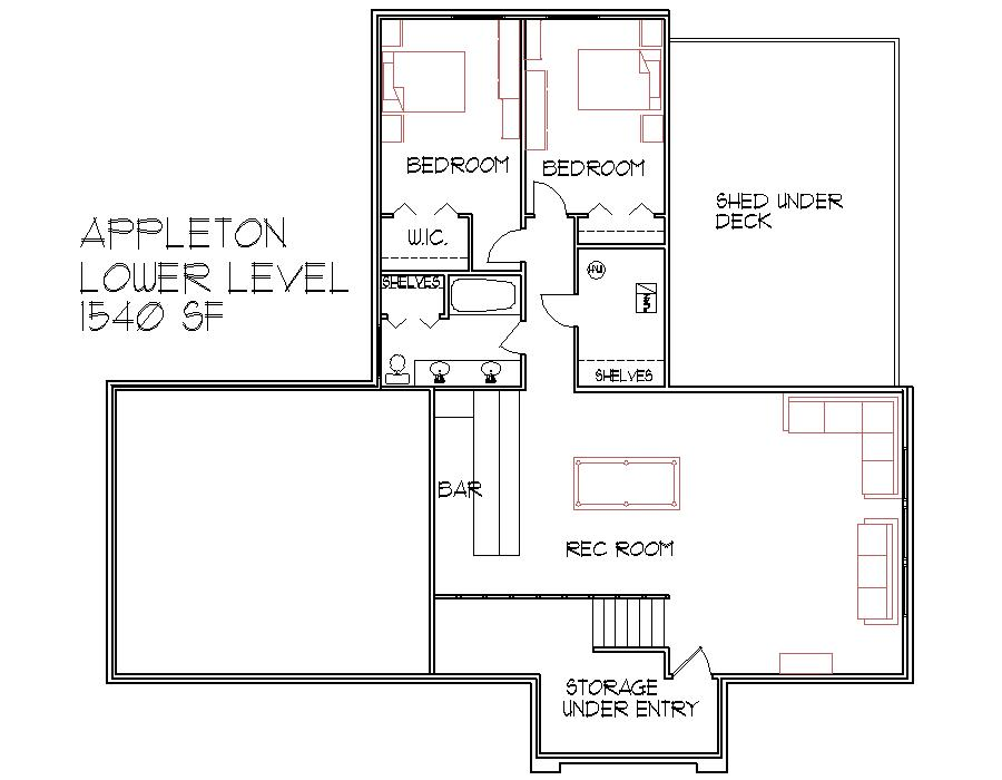 3 Bedroom 3 Bath 3000 Sq Ft House Blueprints Louisville Kentucky Lexington  Buffalo Rochester New York