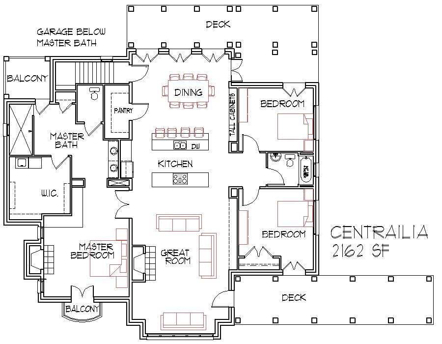 Open floorplans large house find house plans Open space home plans