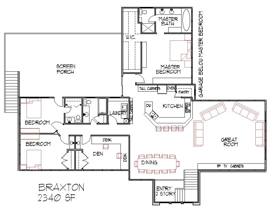 Home ideas split bedroom home plans for Split master bedroom floor plans