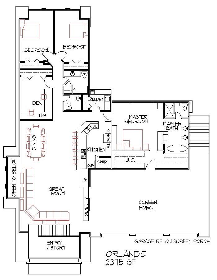 Modern House Floor Plans 4 Bedroom 2500 Square Feet Split Level Design