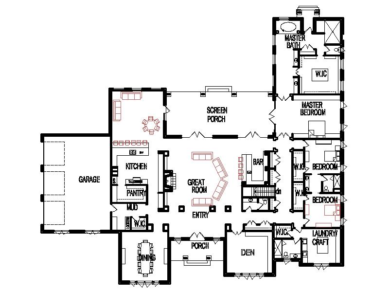 Bedroom House Plans Open Floor Plan Design 6000 Sq Ft House 1 Story