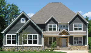 Craftsman Shingle Style Stone House Plans  4000 Sq Ft 2 Story 4 Bedroom 4 Bath 3 Car Garage Front Porch with Basement 5300 Square Feet Dallas San Antonio El Paso Texas Houston Austin Ft Worth Phoenix Chandler Glendale Arizona Tucson Mesa Salt Lake City Utah Provo Sioux Falls South Dakota Rapid City Fargo North Dakota Bismarck Cheyenne Wyoming Casper Billings Montana Missoula