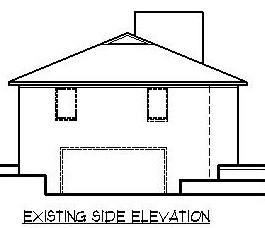 Garage Elevation Proposed Remodeling Changes to Rustic Style