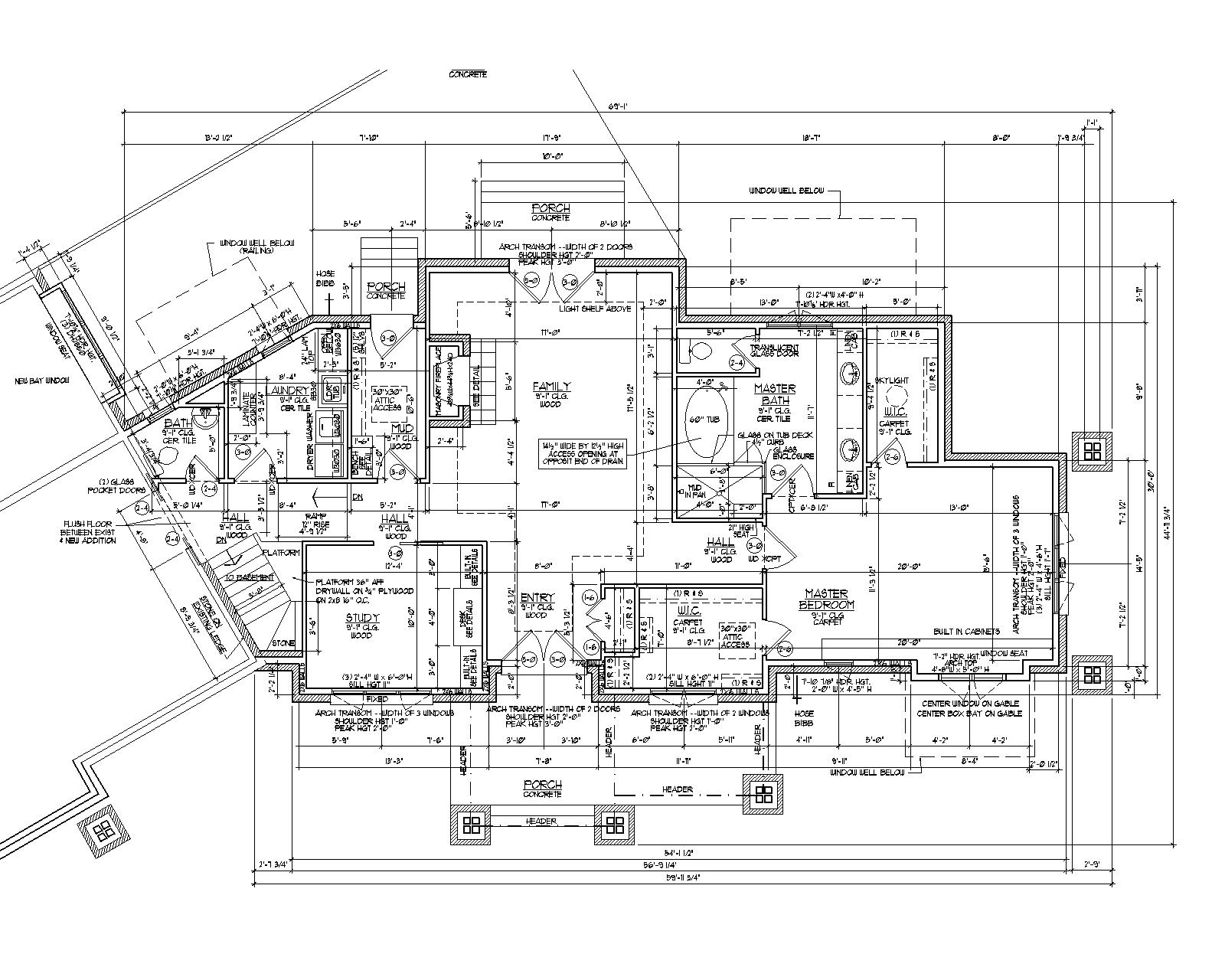2d autocad house plans residential building drawings cad for Floor plan blueprint