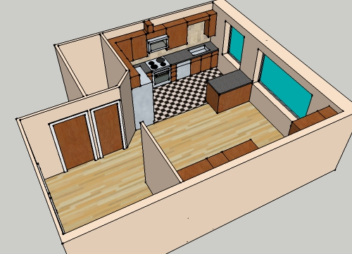 Simple House Plan With 3 Bedrooms 3d ...